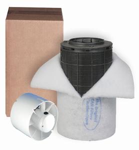Mini Fan buis/slang ventilator 125mm + Can-Lite 150m³
