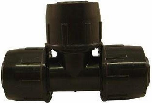 PE T-stuk 25x25x25mm easy, gebruikt