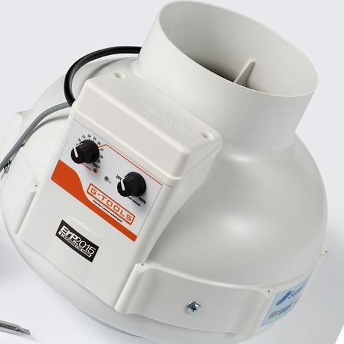 Prima Klima Buisventilator met fancontroller 400m³ ø125mm