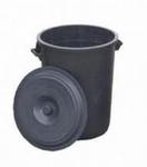 Waterton rond grijs 50ltr. 44h.x ø45cm  incl deksel