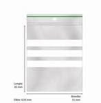 Gripzak 55x65 p/100 met 3 witte schrijfstroken per/100