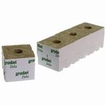 Startblok Grodan steenwol 7,5x7,5cm. klein blok-klein gat