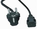 IEC Kabel aansluitkabel Female/Europesche stekker