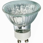 LED Reflektor 24° < 1W GU10 230V 51mm    wit