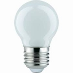 LED kogel 0,6W E27 wit